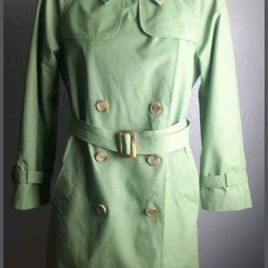 Talbots LongTrench Double Breasted Coat Jacket Lig
